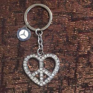 Accessories - Mercedes Benz rhinestone keychain